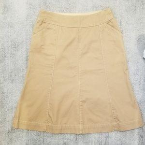 Boden khaki skirt with cute stitching